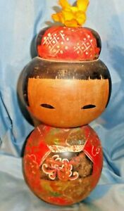 """ANTIQUE  OLD   LARGE   """"1/2 """"  KOKESHI  DOLL TREASURE  / TOTAL  6 DOLLS  LOVELY"""