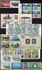 Repubblica - Lotto di 36 francobolli (coppie + quartine + blocchi) - Usati