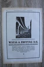 Werbung 1910-30 Beton Eisenbeton Hoch- Tiefbau Wayss & Freytag AG Berlin Bremen