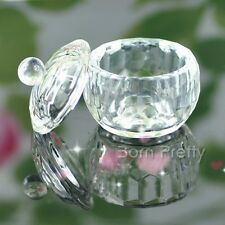 Crystal Glass Dapppen Dish LId Bowl Cup Nail Art Tools Nail Manicure Tips Boxes