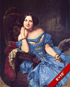 AMALIA DE LLANO BEAUTIFUL SPANISH AUTHOR WOMAN PAINTING ART REAL CANVAS PRINT