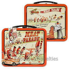 Meat Parade Lunchbox Lunch Box Food Sandwich Metal Tin Classic School Container