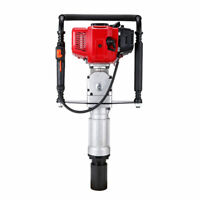 52cc 2-Stroke Gas Powered Heavy Duty T-Post Driver Gasoline Push Pile US FAST