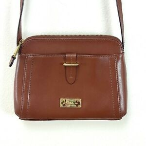 Lauren Ralph Lauren Small Leather Brown Crossbody Bag