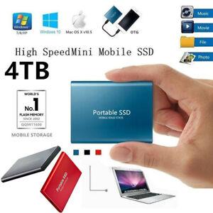 USB 3.1 External SSD Hard Drive Disk High Speed Solid State 500GB 1TB 2TB 4TB