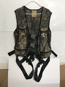 Real Tree Hunter Safety System Harness Pro Series Vest Size S / M