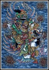 """Incredible!  """"Original Balinese Painting MYTHICAL BALI"""" (35.75"""" High x 25"""" Wide)"""