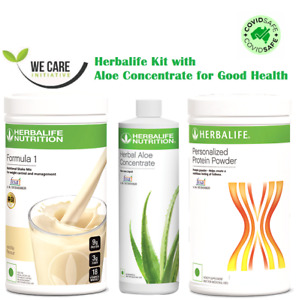 HERBALIFE Kit - F1 Shake + Protein Powder 400G + Aloe Concentrate