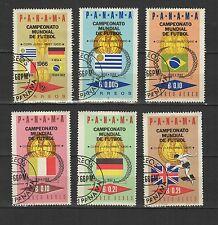 coupe du monde de football 1967 PANAMA  6 timbres oblitérés / T1726