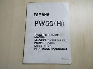 Yamaha Pw 50 (H) Manuale Istruzioni per la Manutenzione di Guida 3PT-28199-87