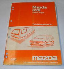Werkstatthandbuch Mazda 626 Station Wagon Typ GD/GV Elektrik / Schaltpläne, 1988