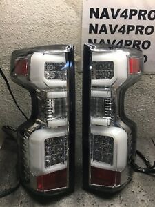 2019-2020 Silverado 1500 2020 2500HD / 3500HD LED TUBE TaiLl Light Pair #T188