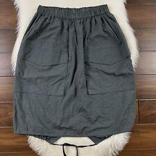 Billy Reid Women's Size Large Grey Cargo Pocket Pull On Skirt 100% Cotton