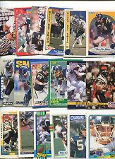 Billy Ray Smith 18 card lot Arkansas Razorbacks / San Diego Chargers