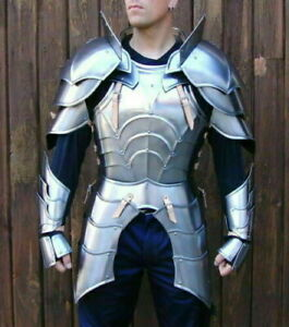 Fully Functional SCA LARP Steel Medieval Half Body Armor Suit Cuirass/Pauldrons