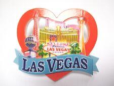 Las Vegas Polystone Heart Magnet Stratosphere Tower Eiffel Tower Souvenir
