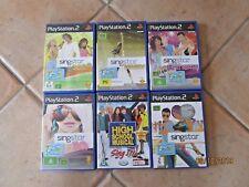 PS2 PlayStation 2 Games Bulk Lot SINGSTAR KARAOKE Pop Hits Dance - ALL COMPLETE