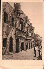 """CARTOLINA DI RODI """" L'ALBERGO DELLA LINGUA DI  """" OCCUPAZIONE ITALIANA 1930 32-92"""