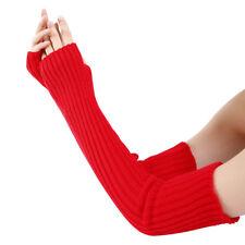 EG_ Ladies Fingerless Gloves Winter Wrist Arm Warmer Women Long Knit Mitten Welc