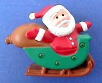 Hallmark PIN Christmas Vintage SANTA SLEIGH TOY SACK Holiday Brooch