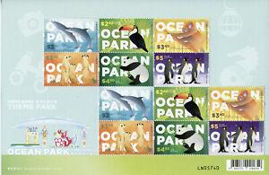 Hong Kong Wild Animals Stamps 2020 MNH Ocean Theme Park Pandas Penguins 12v M/S
