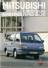 Prospekt / Brochure Mitsubishi L300 Bus und Allrad-Bus 12/1988