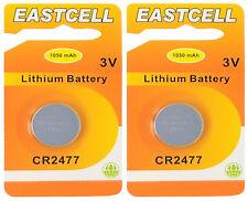 2 x CR2477 3V Lithium Knopfzelle 1050 mAh( 2 Blistercards EINZELBLISTER)EASTCELL