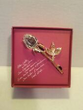 Vintage Retired Swarovski  Crystal Rose Pin