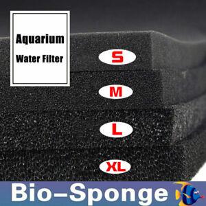 Aquarium Biochemical Cotton Filter Fish Tank Pond Foam Bio Sponge Filter Black