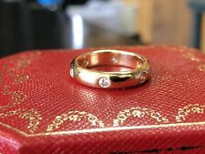 Genuine Cartier 18ct Yellow Gold Diamond Band Ring - Size 48