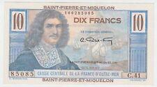 St Pierre & Miquelon P 23 - 10 Francs 1950 1960 - UNC