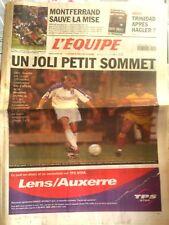 L'Equipe Journal 29/9/2001; Trinidad après Hagler ?/ Montferrand/ Lens-Auxerre