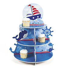 BOAT WHALE Birthday Sailor Cupcake Holder Party Favors NAUTICAL BEACH ANCHOR