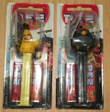 Pez Candy Dispensers Angry Birds Movie (2 x 17g) Yellow & Black Birds New