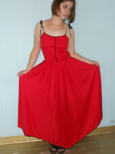 fab vintage 70s chic disco red dress