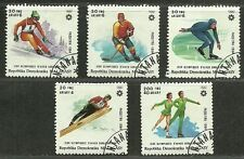 """Madagascar 1984 VF Used Hinged Stamps Set """" Winter Games"""""""