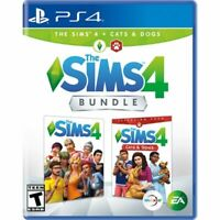BRAND NEW - The Sims 4 Plus Cats and Dogs Bundle - PlayStation 4 PS4 SEALED