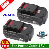 2 18V NiCd Battery for PORTER CABLE PC18B PC1801D PCXMVC PC18ID PCC489N Cordless