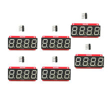"6x 4 Digit 7-Segment 0.56"" LED Display Module Clock HT16K33 I2C for Arduino"