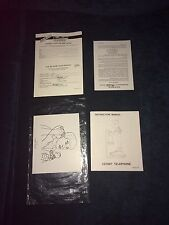 Muppets Kermit The Frog Candlestick Telephone Manual Paperwork Complete