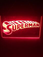 Superman 8�x12� Red Led Wall Light Sign Display