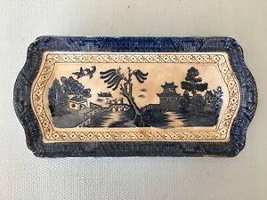 Vintage Manto Ware Imperial China Blue Willow Serving Plate