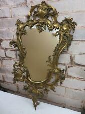 really old mirror cast metal frame early fine wall mirror