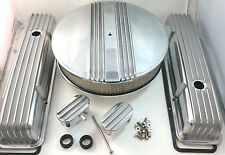 Nostalgic SB Chevy SBC Short  Polished Finned Engine Dress Up Kit  283 327 350