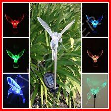 1 Piece Solar Powered Hummingbird Garden Yard Stake Pathway Lawn Light Led Sun i