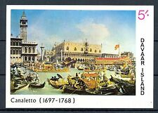 GB LOCAL DAVAAR  ISLAND 1 BLOCK  IMPERF  PAINTING - CANALETTO -  **  MNH VF