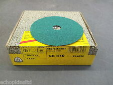 """Klingspor CS570 Fibre Discs 100x16mm Grit 120 - Box of 25 (4"""")"""