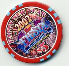 "LAS VEGAS $5 FIESTA HAPPY NEW YEAR  2002  CASINO CHIP  ""BRAND NEW"""