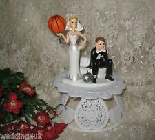 Wedding Party Reception ~Basketball~ Goal Cake Topper Sports Ball & Chain