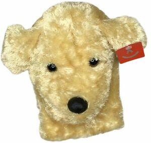"Aurora New Garth Dog Hand Puppet Golden Retriever Plush Stuffed 8"" With Tags"